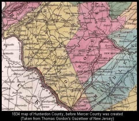 1834 Map of Western NJ